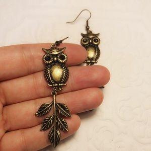 New bronze owl earrings